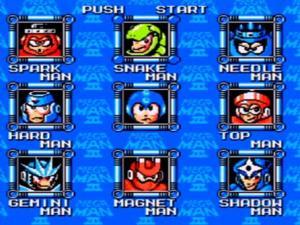 Megaman 3 robot select